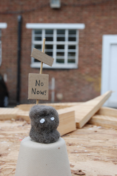 'Misty Fur Sculpture', unique thumb-sized editions by Jo David launched to coincide with the No Now! exhibition.